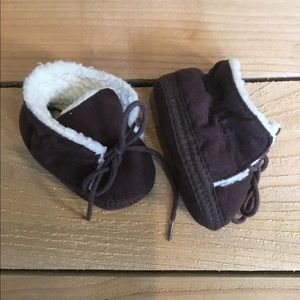 Other - Brown Faux Fur Baby Booties